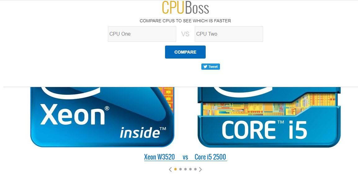 مقارنة بين انواع المعالجات CPU