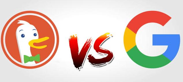 مقارنة duckduckgo مع جوجل