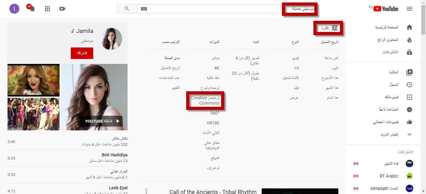 الحصول على مقاطع فيديو من يوتيوب بدون حقوق ملكية