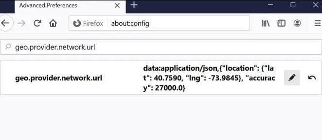 تغيير الموقع الجغرافي فايرفوكس