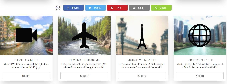 جولة سياحية على الانترنت