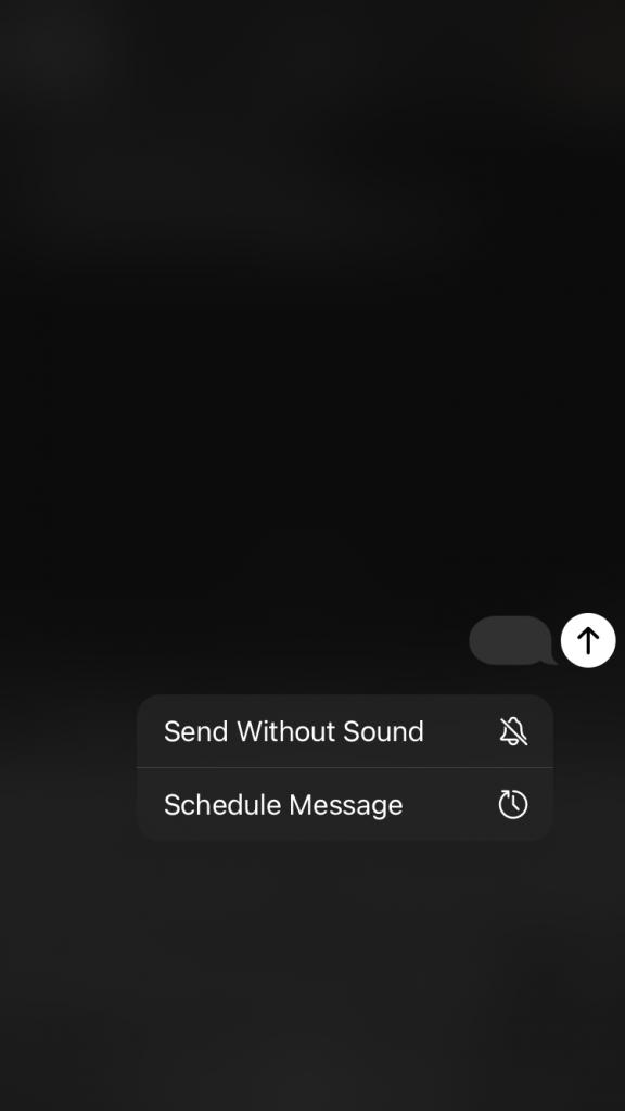 ارسال رسالة بدون صوت